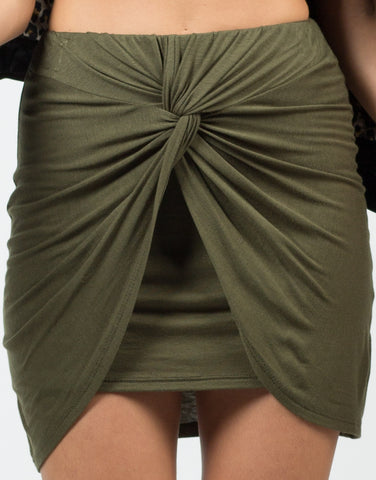 Detail of Knot It Mini Skirt