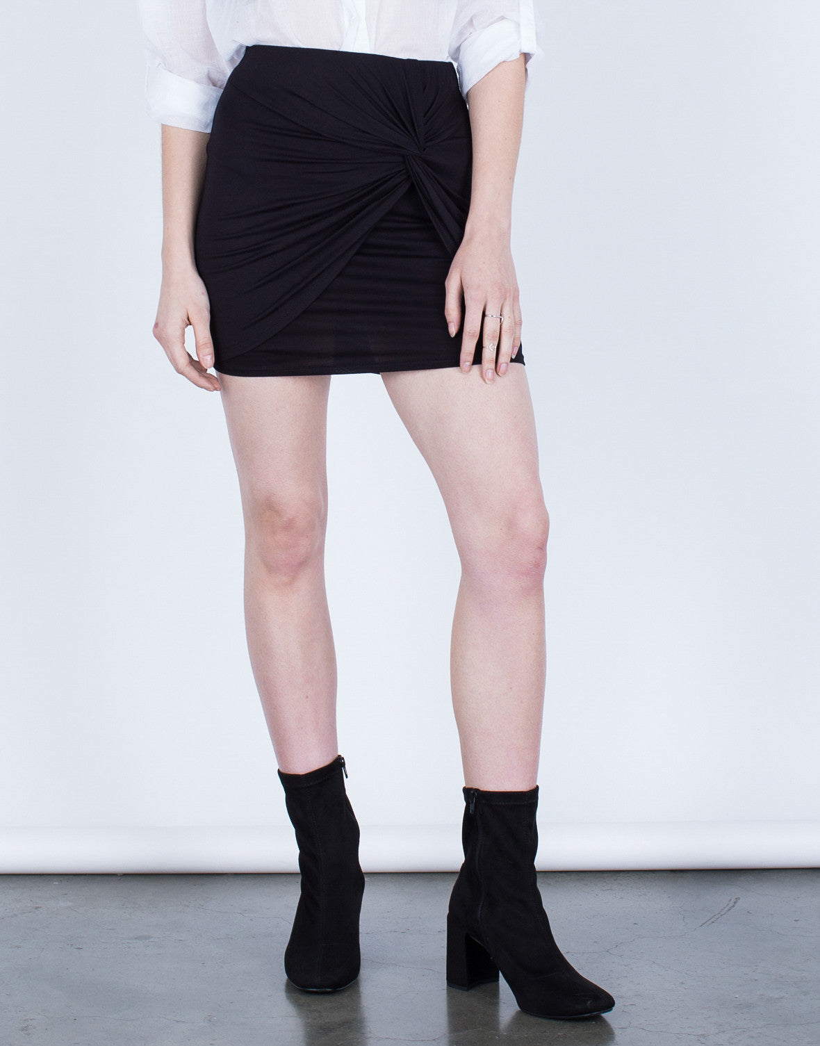 Knotted Mini Skirt