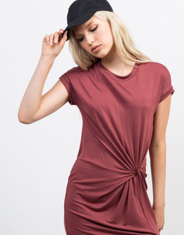Detail of Knotted Tee Dress