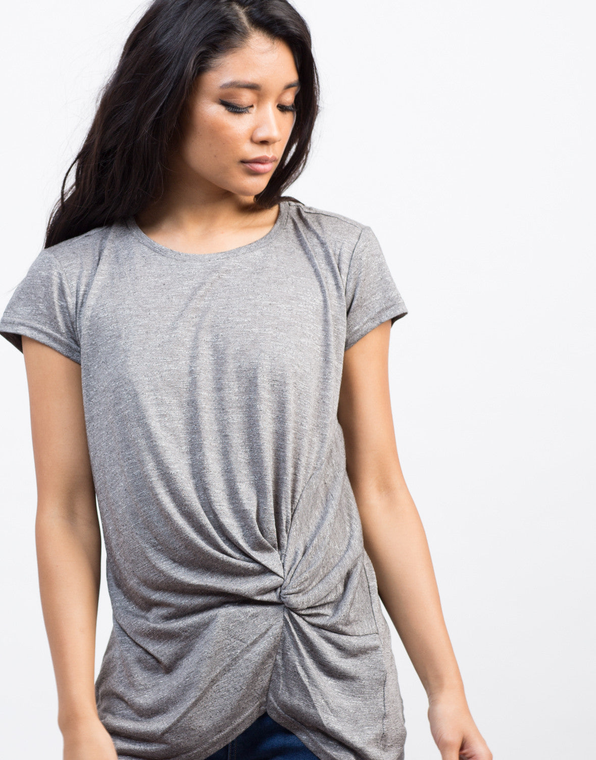 Detail of Knotted Tunic Tee