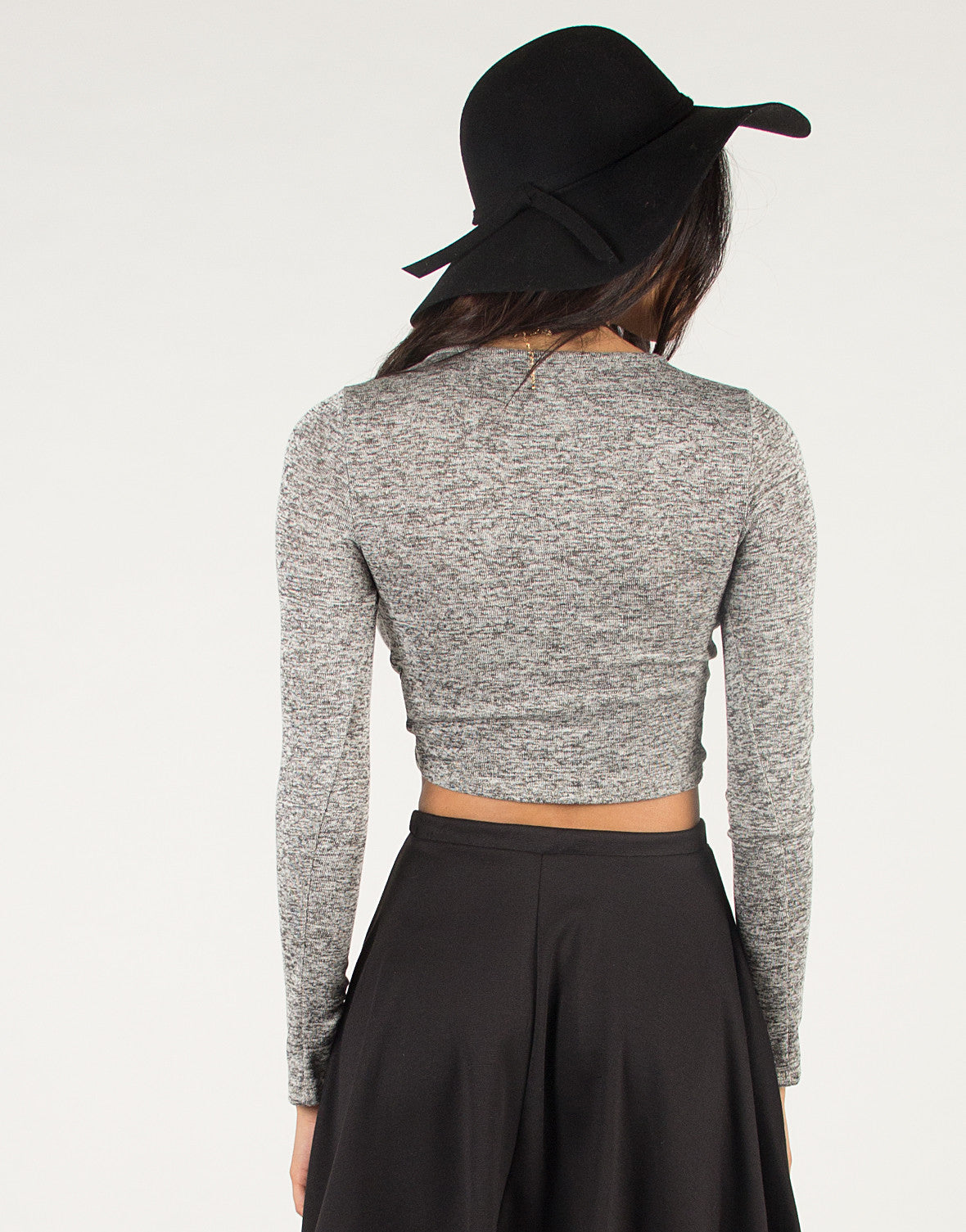 Knotted Front Crop Top