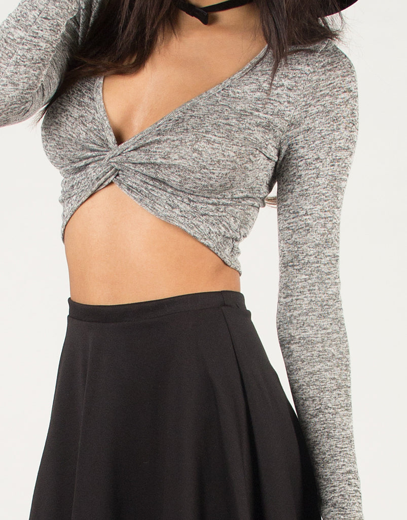 Knotted Front Crop Top - 2020AVE