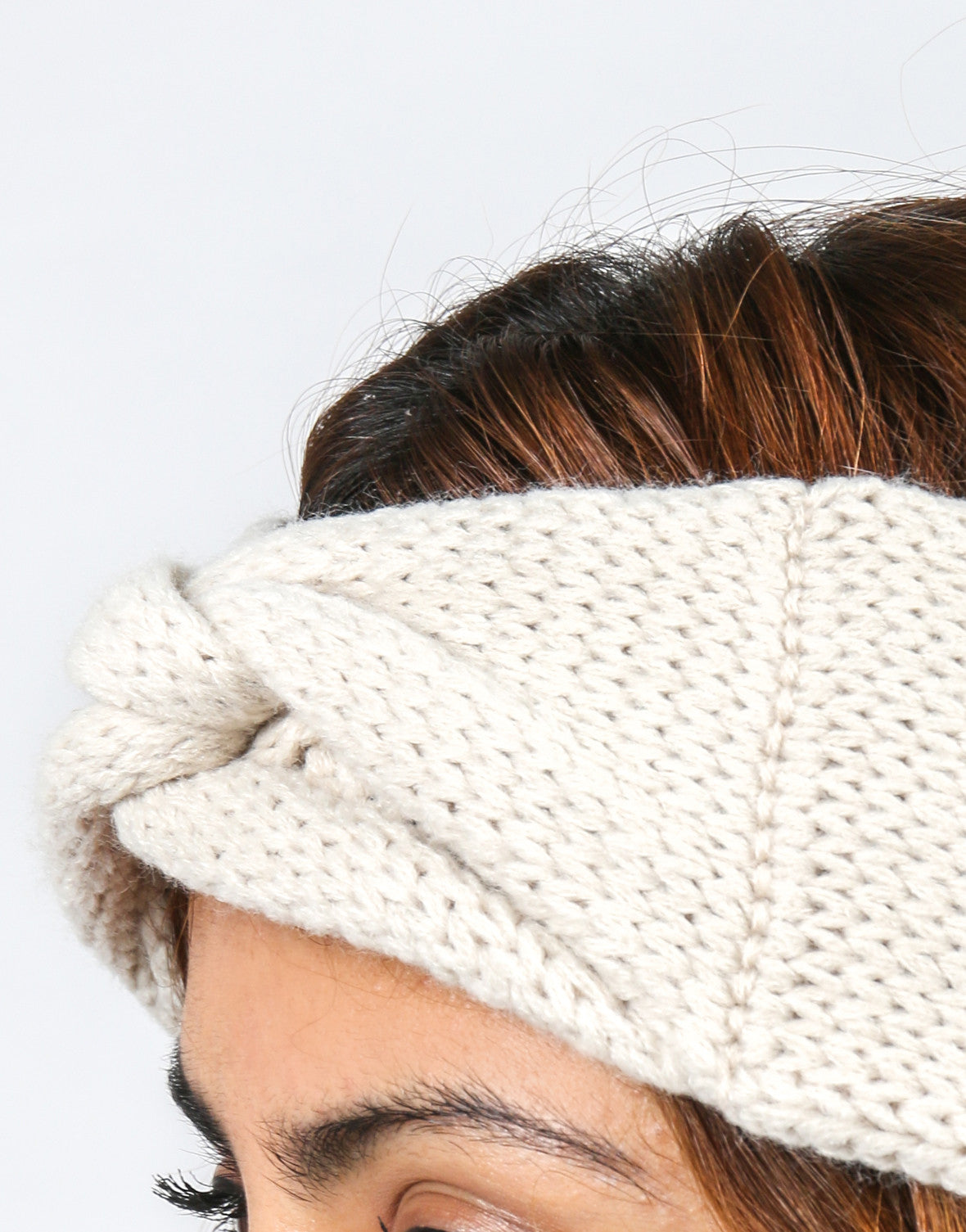 Knotted Knit Headwrap - Cream