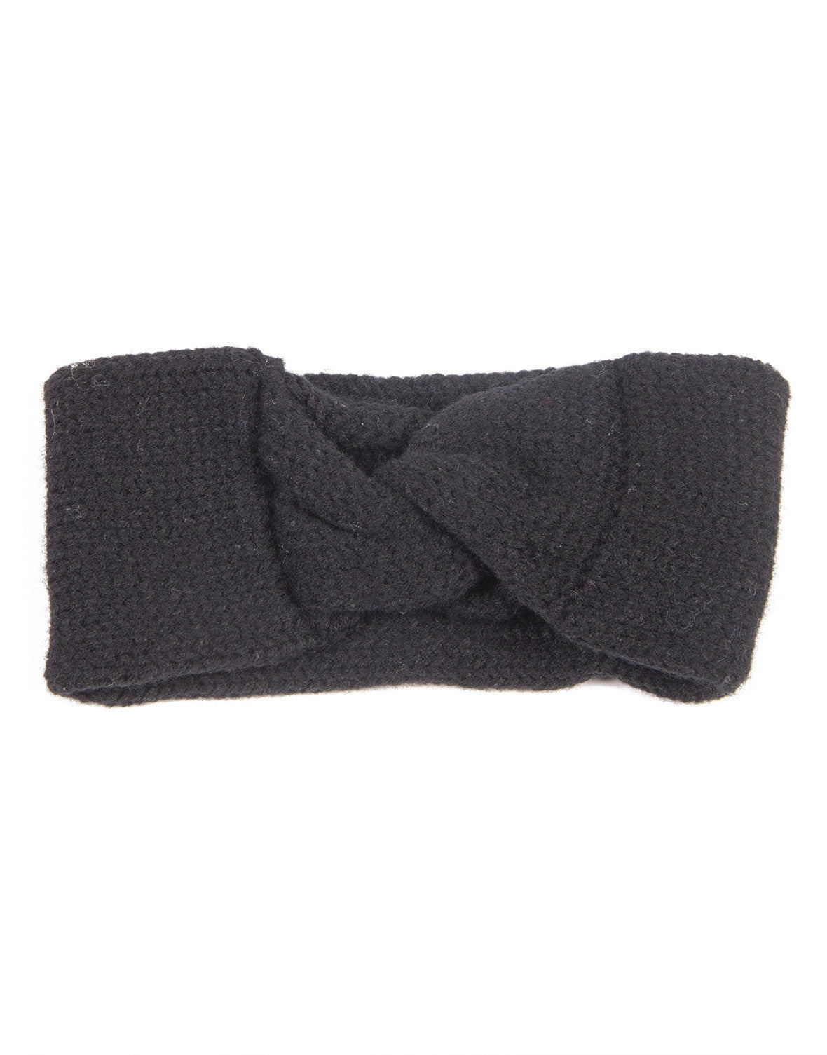 Knotted Knit Headwrap - Black - 2020AVE
