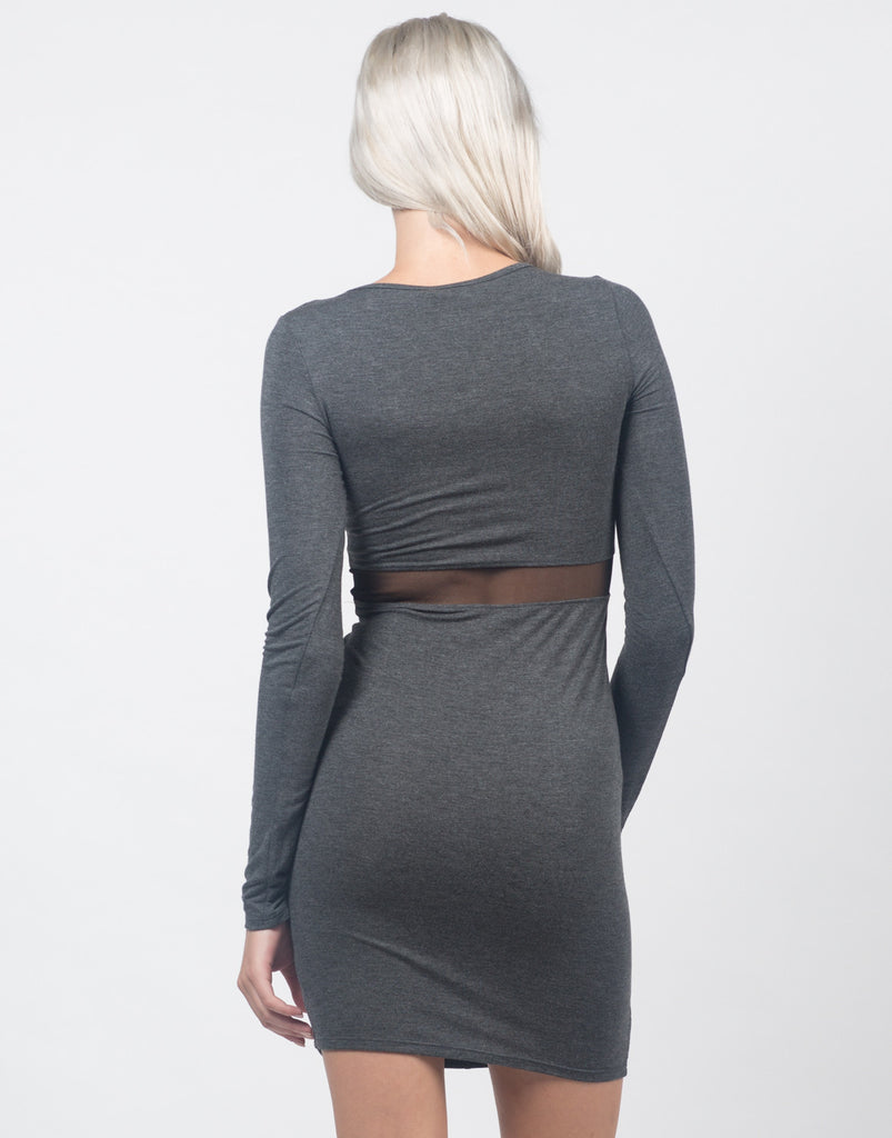 Knotted Mesh Cut Out Dress - 2020AVE