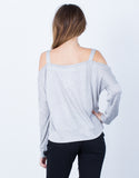 Back View of L/S Cold Shoulder Top