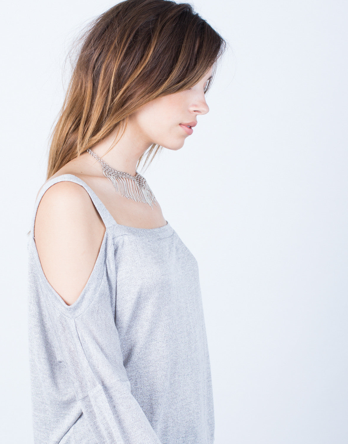 Detail of L/S Cold Shoulder Top