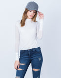 L/S Mock Neck Top
