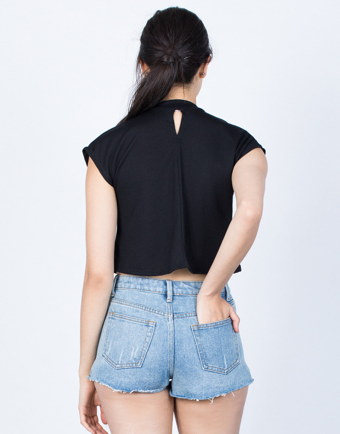 Back View of Lace Around Me Tee