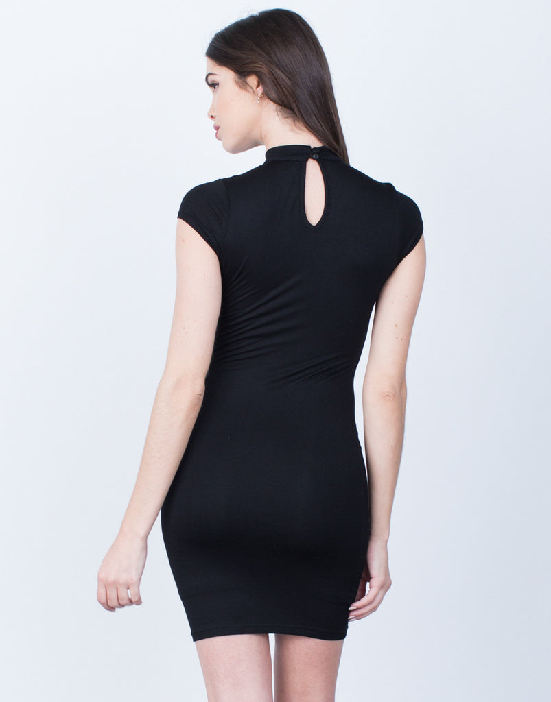 Lace Me Up Bodycon Dress - 2020AVE
