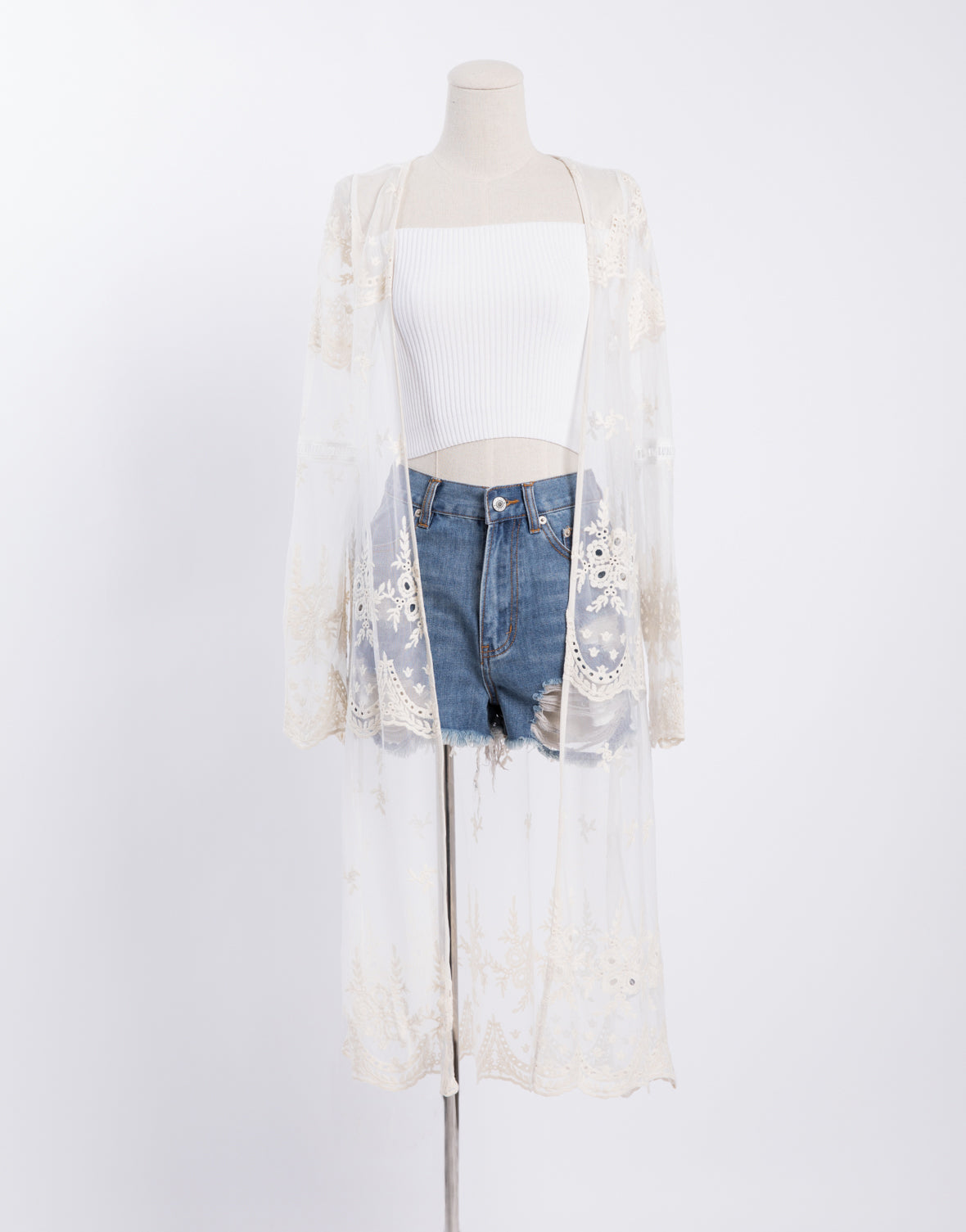 Lace Sheer Cardigan Duster 2020ave