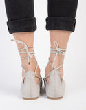Lace Up Ballerina Flats