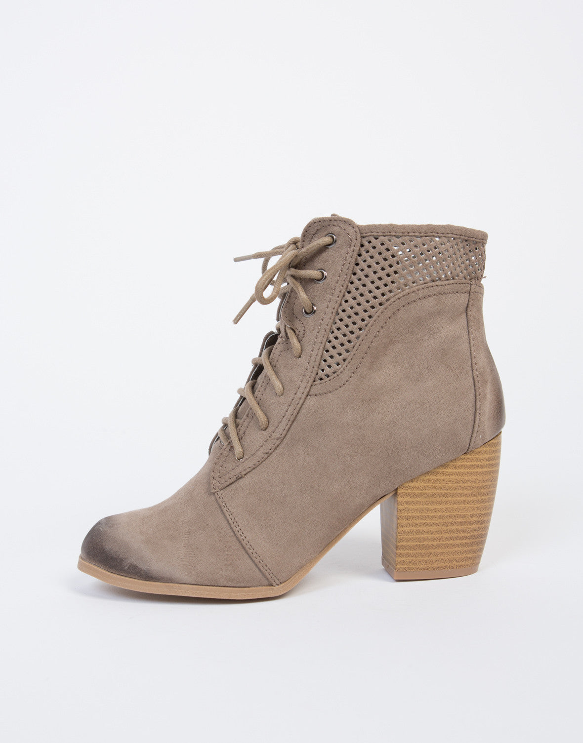 Lace-Up Combat Booties - 2020AVE