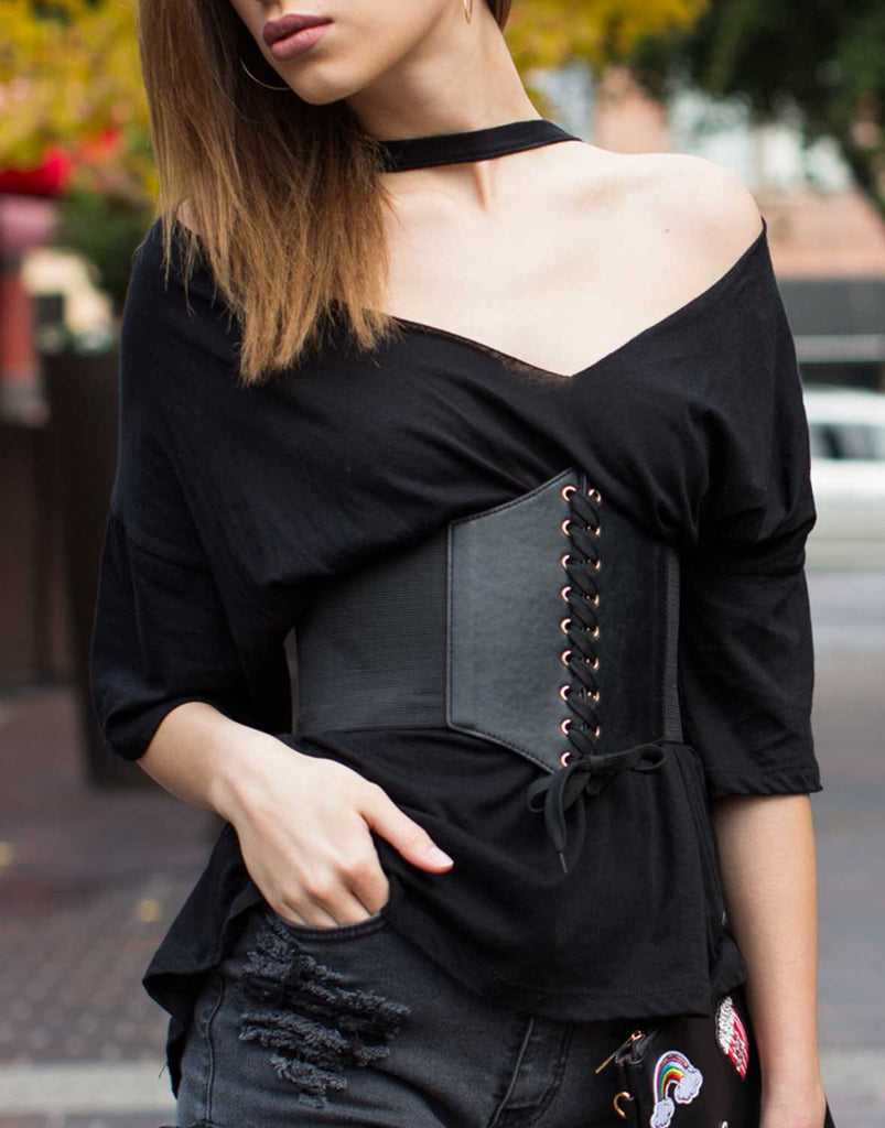 Lace-Up Corset Belt