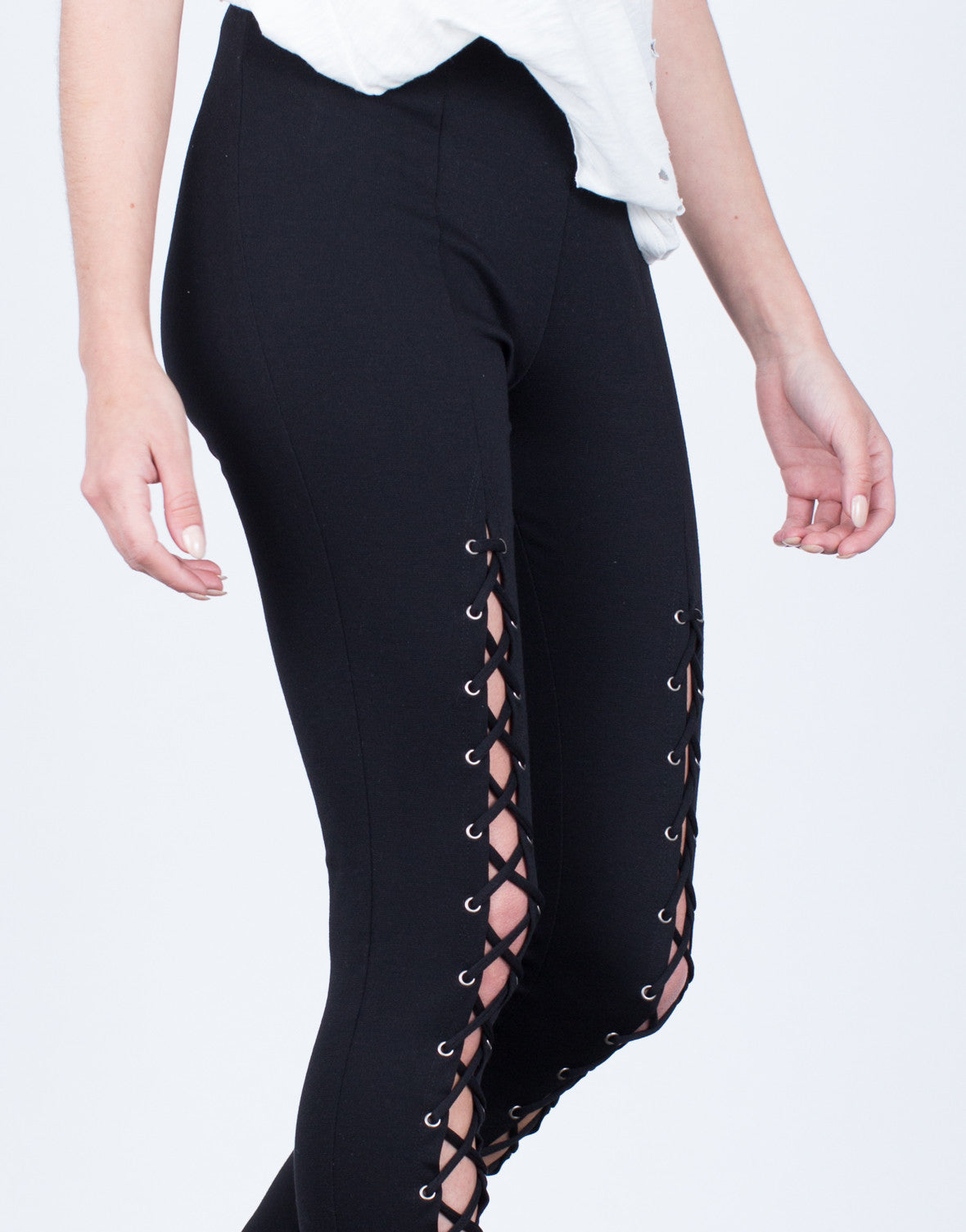 Detail of Lace-Up Leggings