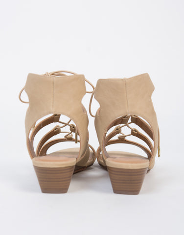Lace-Up Wedge Sandals - 2020AVE