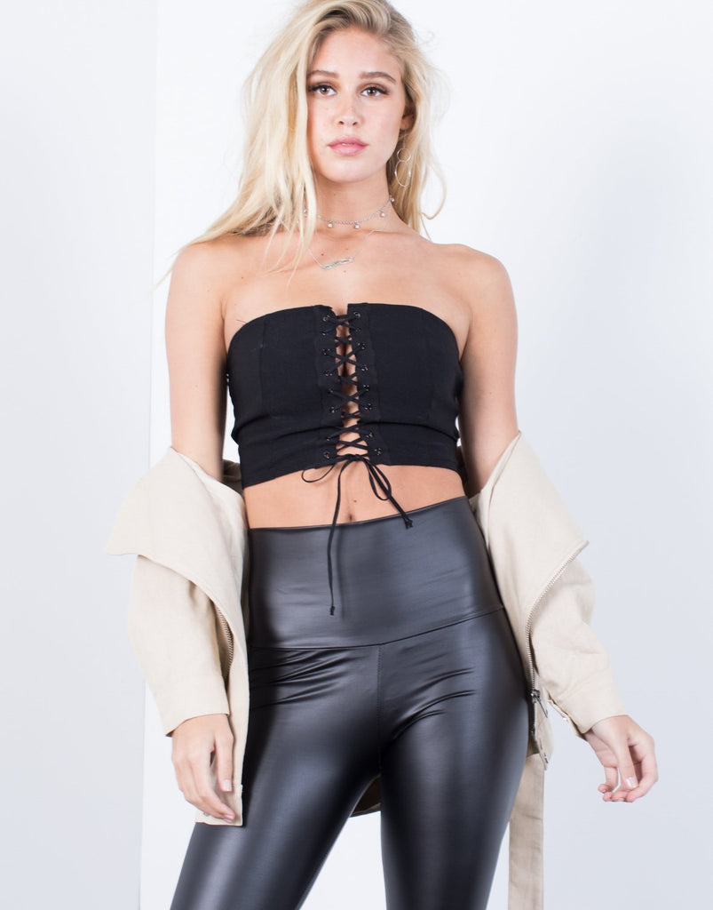 Laced Up Tube Top - 2020AVE