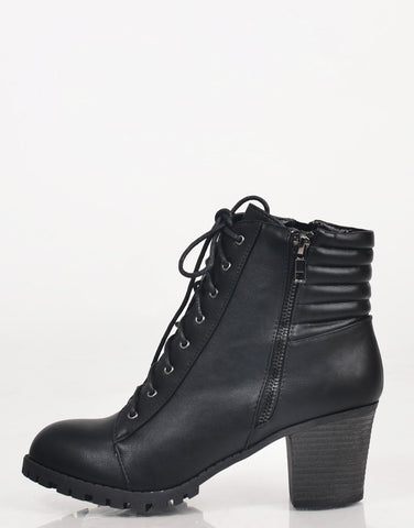 Laced Up Ankle Booties