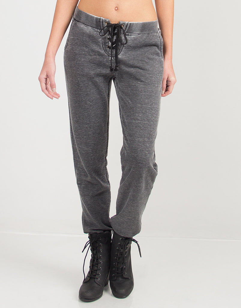 Laced Up Comfy Joggers - 2020AVE