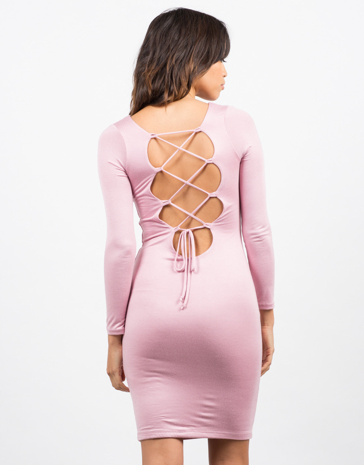 Back View of Laced Up Dress