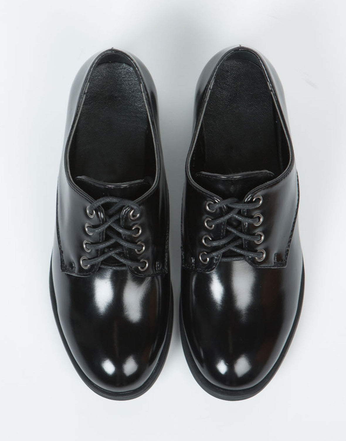 Top View of Laced Up Oxfords