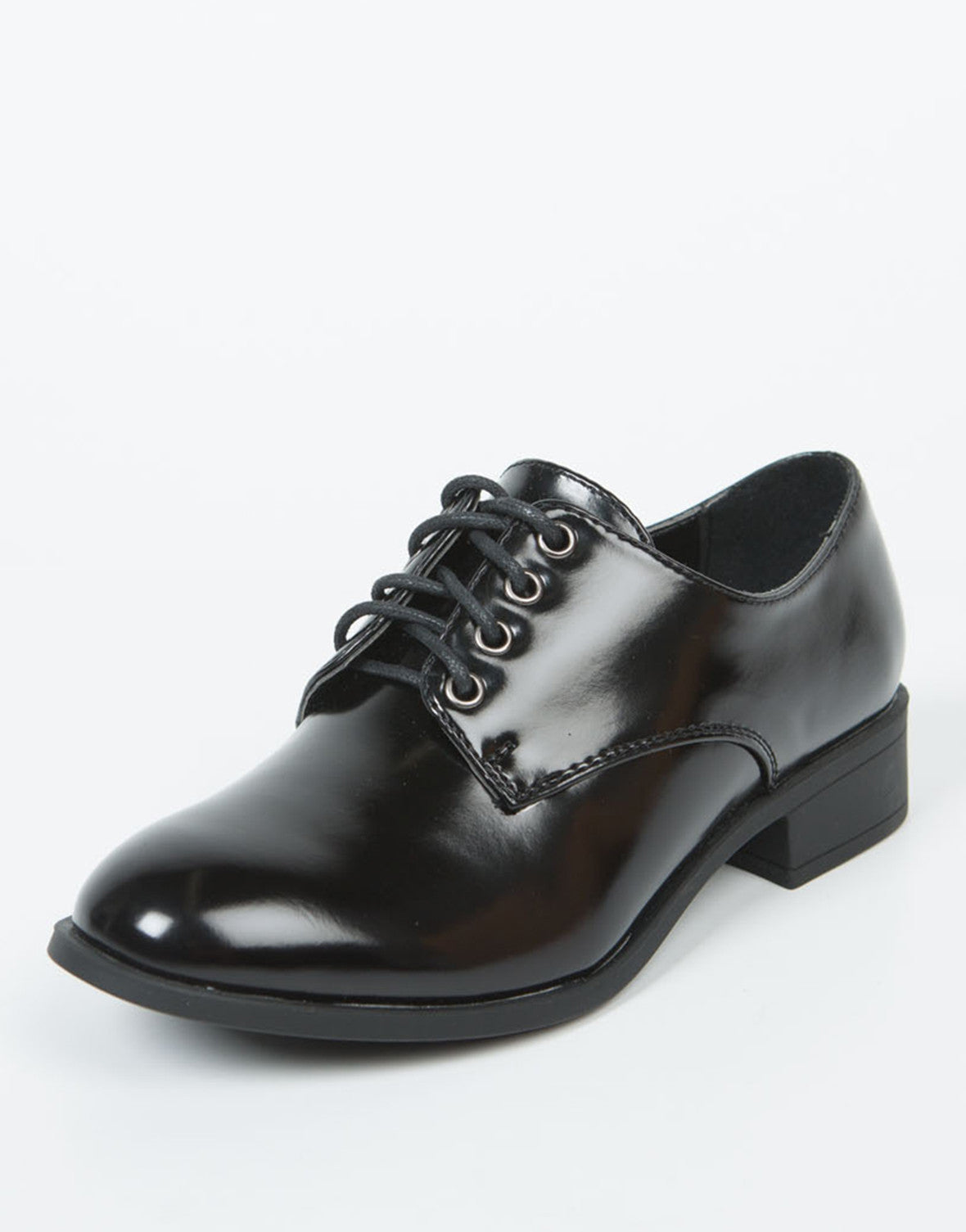 Side View of Laced Up Oxfords