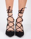 Laced Up Pumps