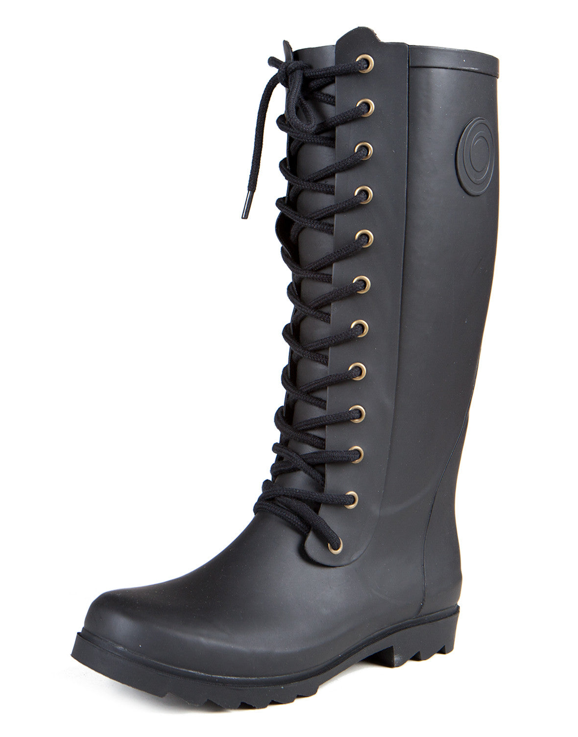 Laced Up Tall Rainboots - 9