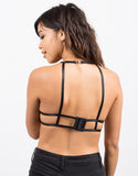 Back View of Lace Halter Bralette