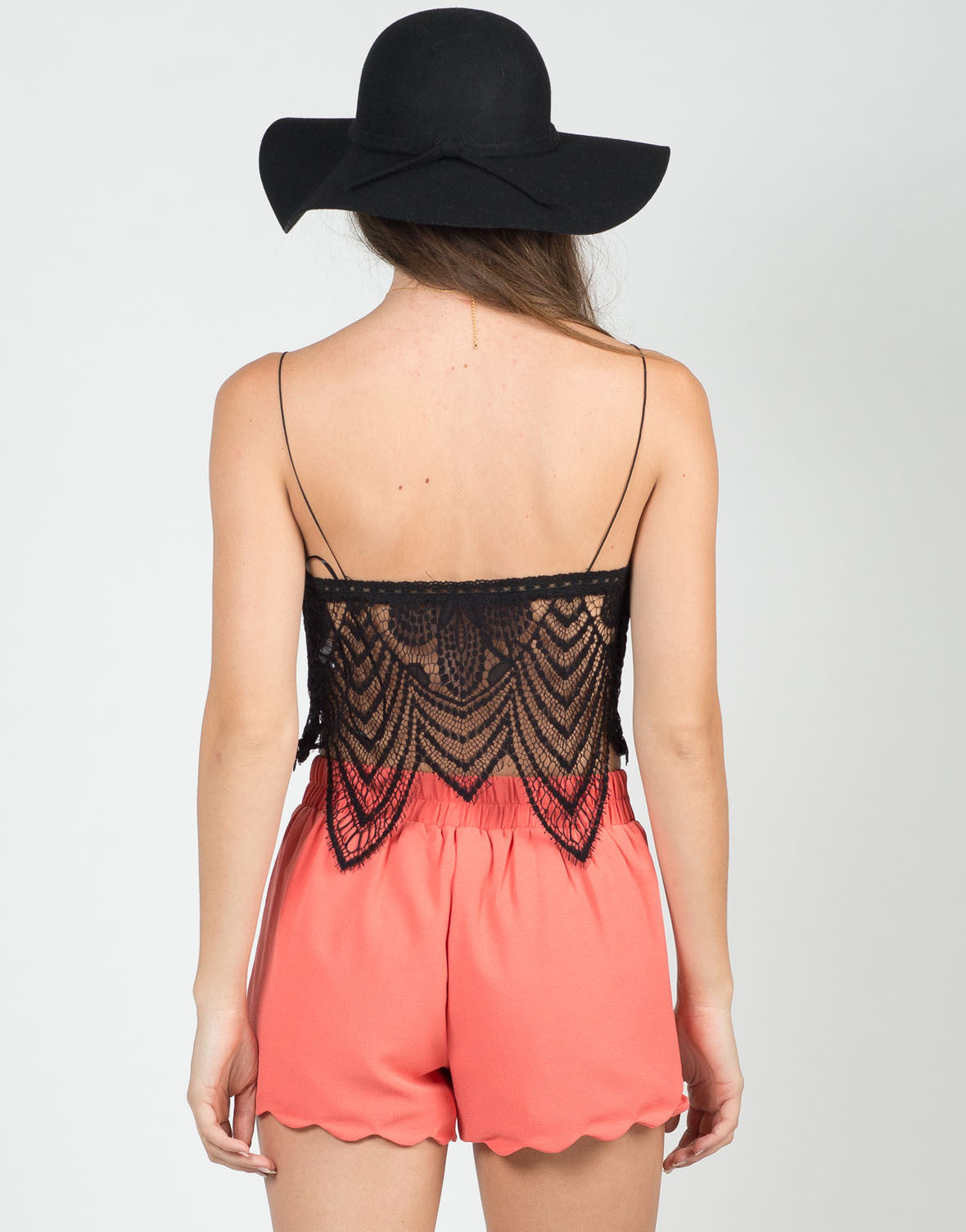 Back View of Lace Overlay Bralette