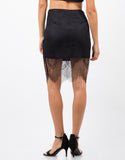 Back View of Lace Overlay Skirt