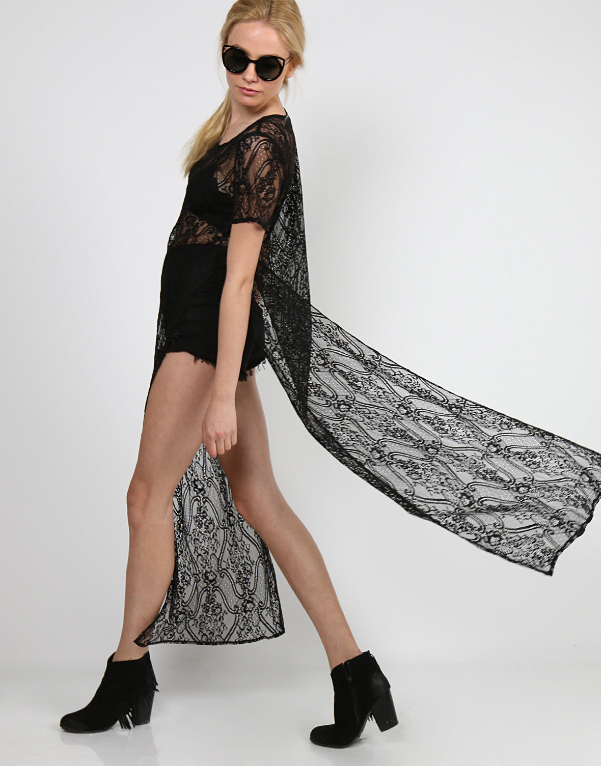 Lacey Overlay Tee Dress
