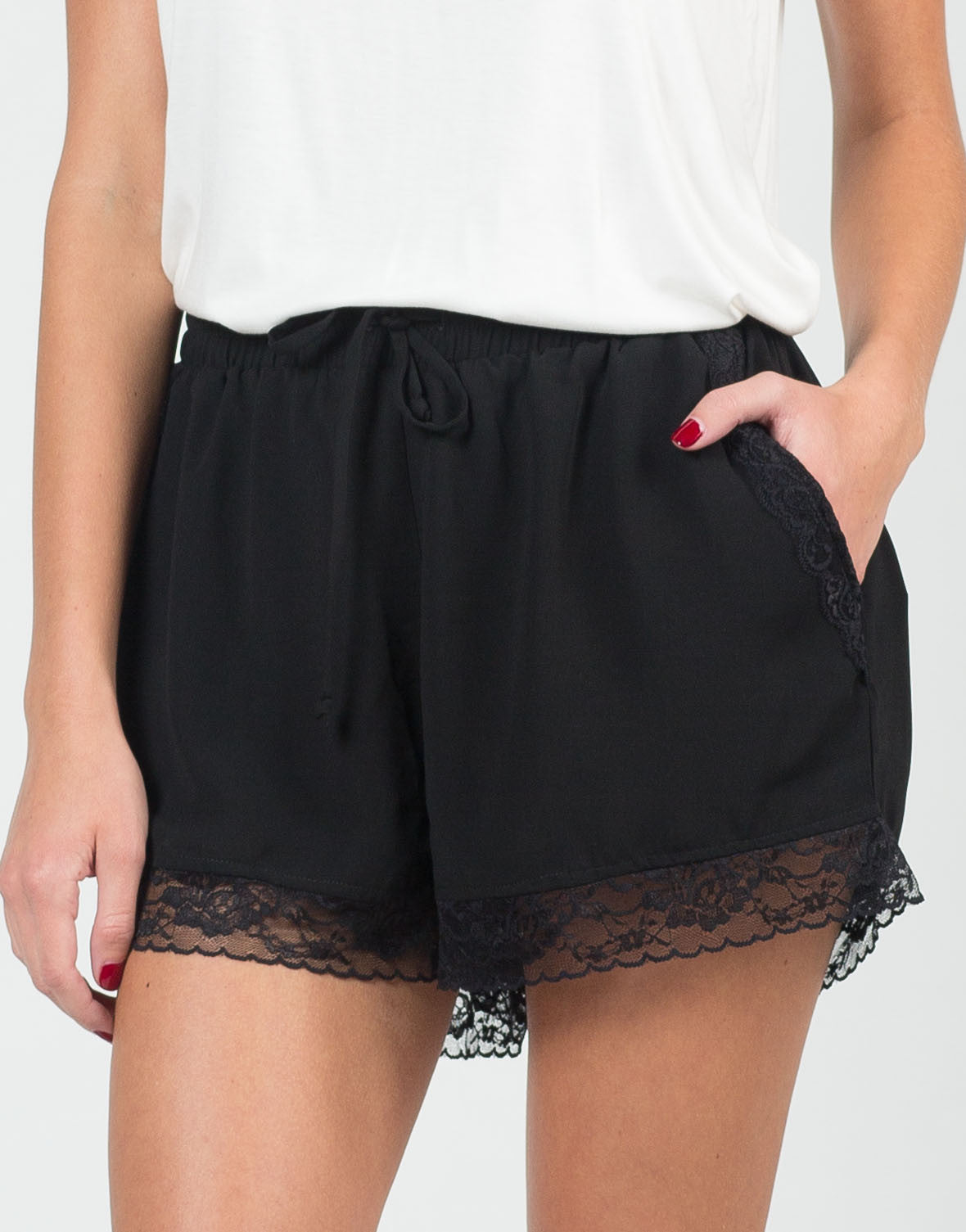 Detail of Lace Trim Shorts
