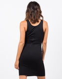 Back View of Lace-Up Bodycon Dress