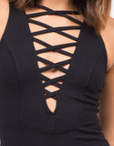 Detail of Lace-Up Bodycon Dress