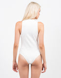 Back View of Lace-Up Bodysuit