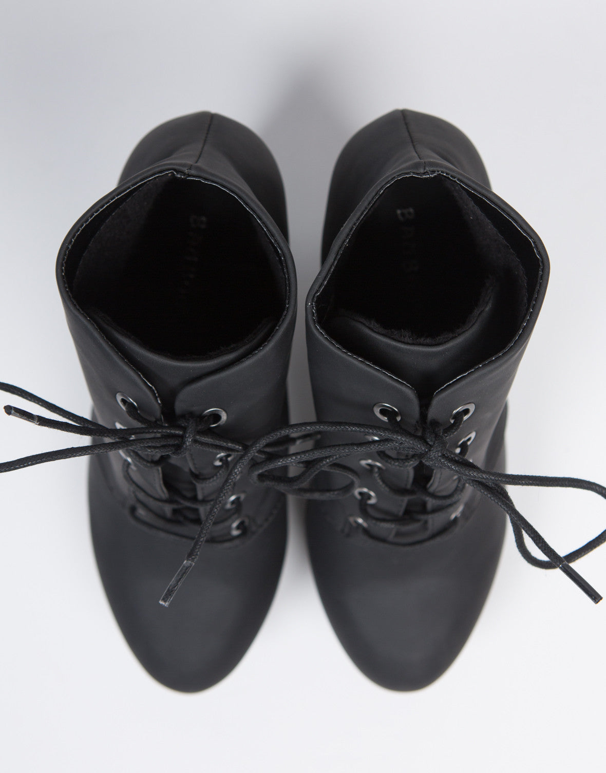 Lace-Up Platform Booties - 2020AVE