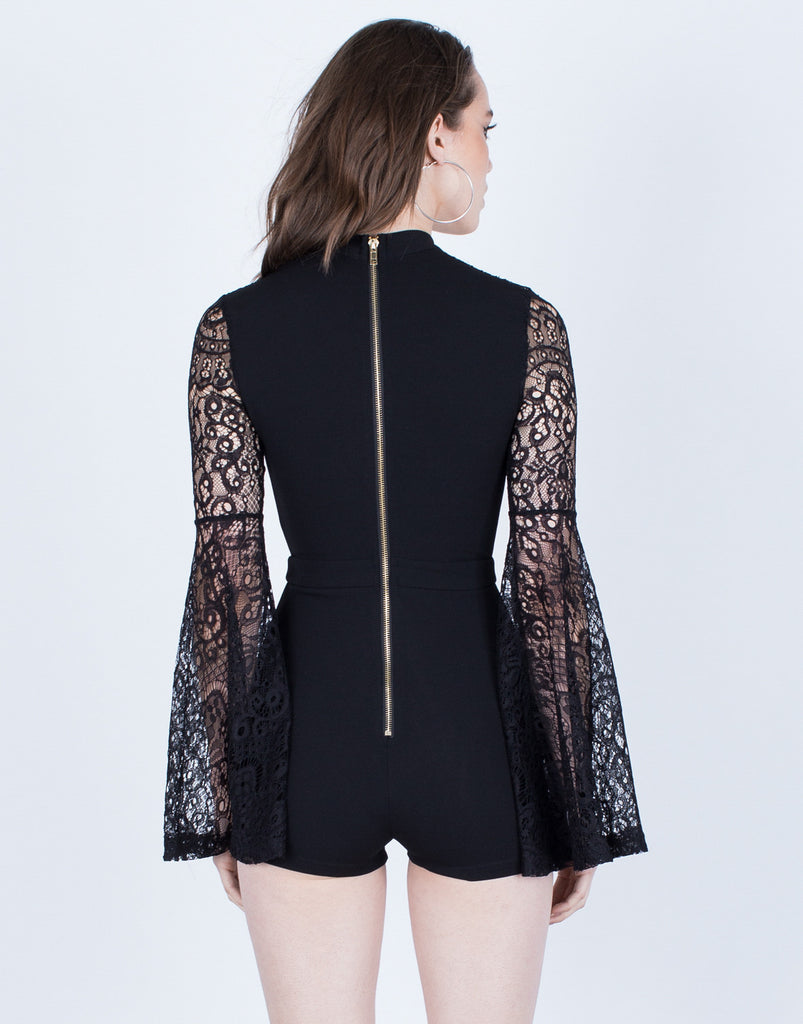 Lacey Bell Sleeve Romper - 2020AVE