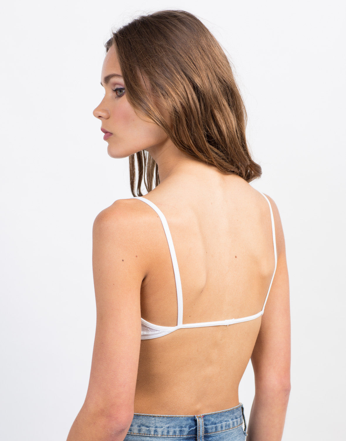 Back View of Lacey Cut Out Bralette
