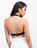Back View of Lacey Halter Bralette