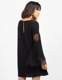 Back View of Lacey Bell Sleeve Dress