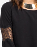 Detail of Lacey Bell Sleeve Dress