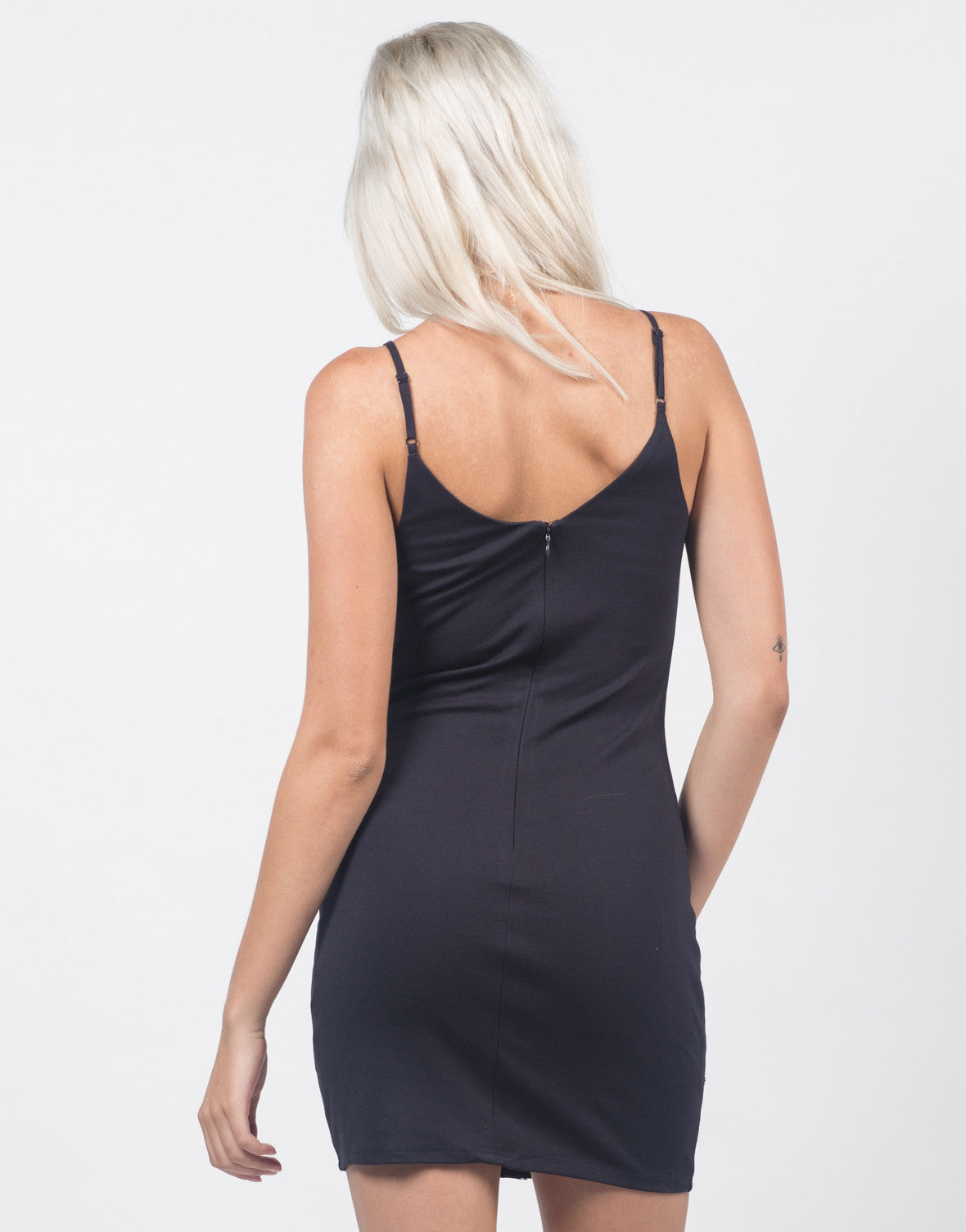 Back View of Lacey Bodycon Dress