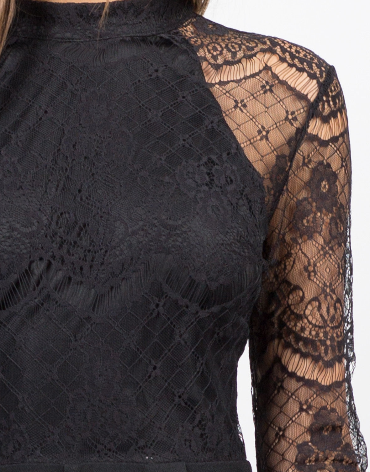 Detail of Lacey Detailed Romper