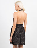 Back View of Lacey Halter Party Dress