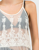 Detail of Lacey Mesh Overlay Dress