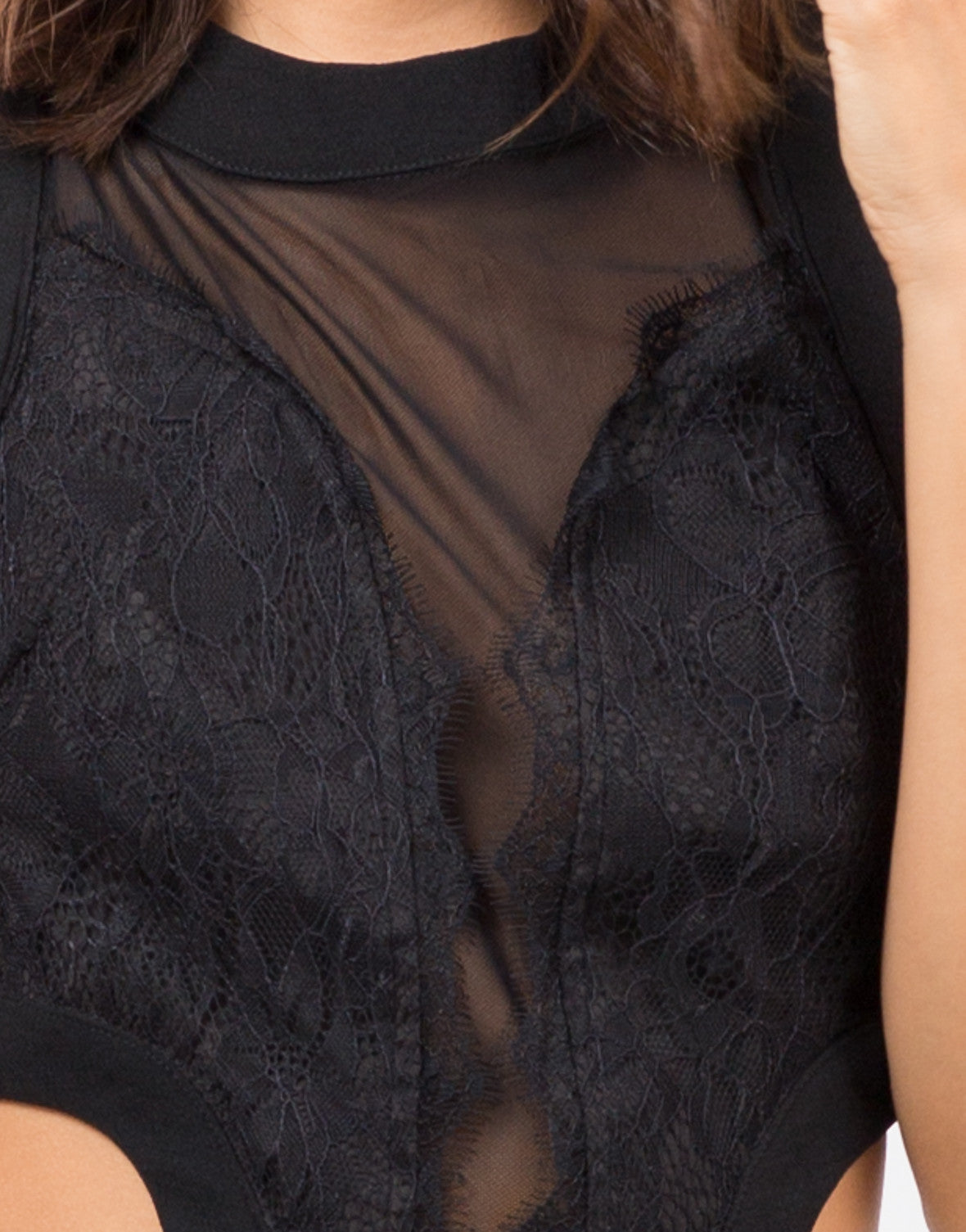Detail of Lacey Open Back Dress