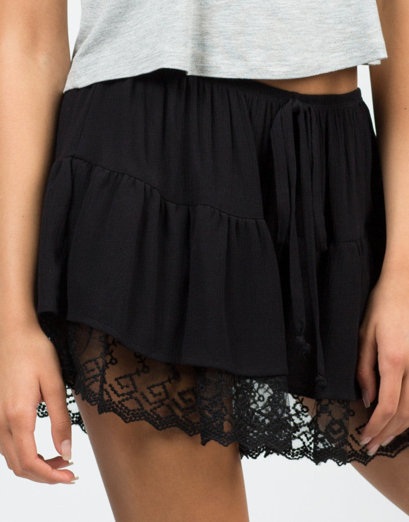 Detail of Lacey Trimmed Shorts