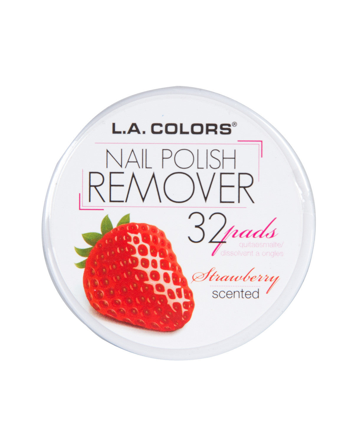 LA Colors - Nail Polish Remover Pads - Strawberry