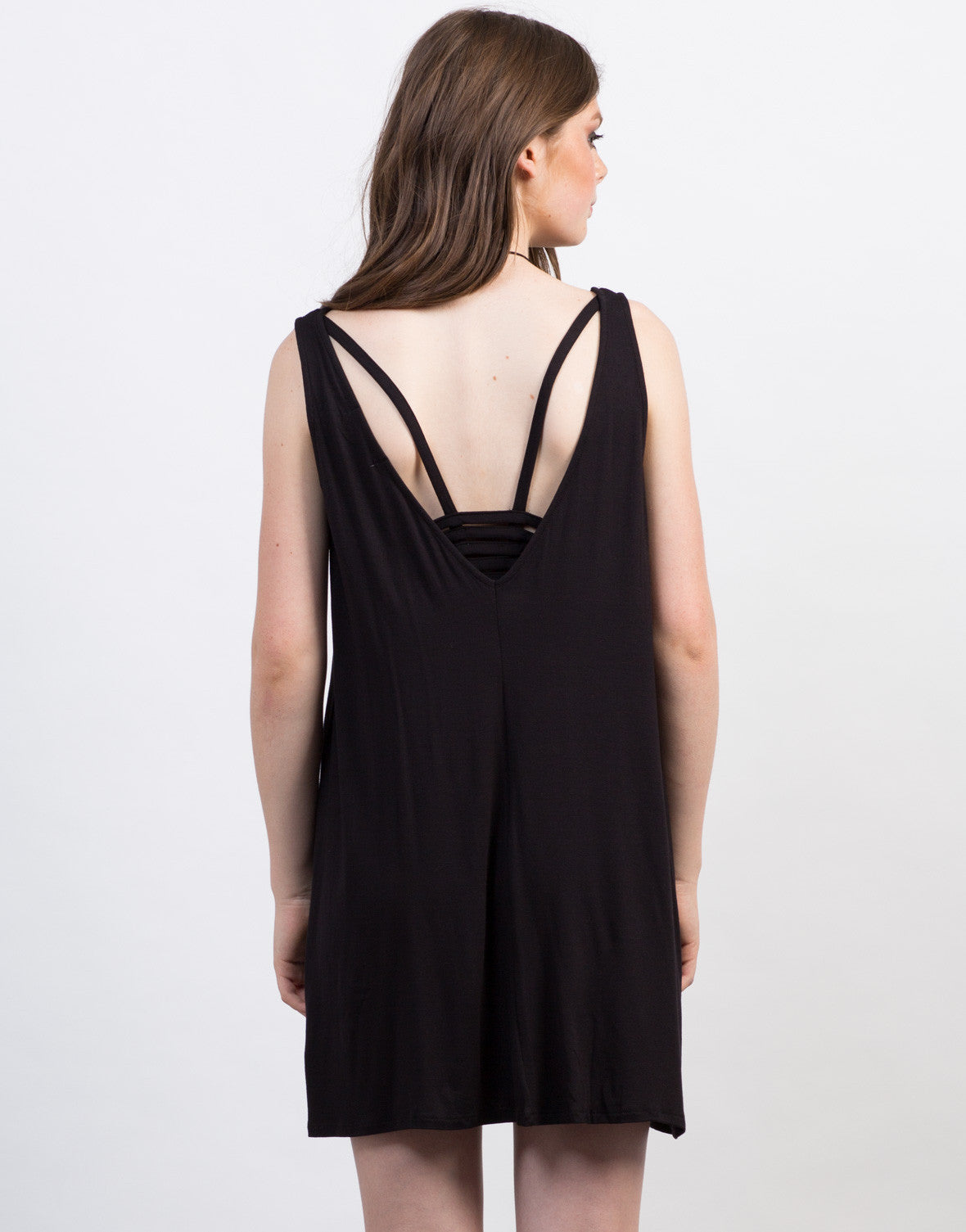 Back View of Ladder Back Tank Dress